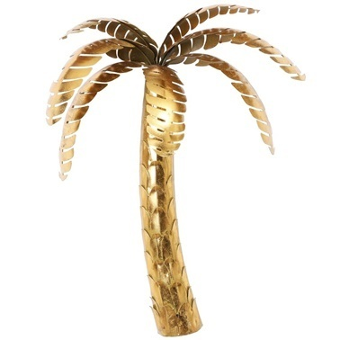 Vitale Gold Palmiye Duvar Dekoru Renkli